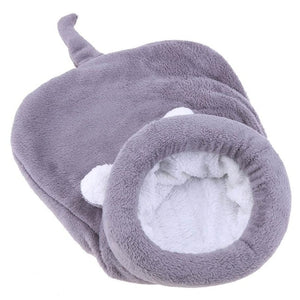Cat Sleeping Bag Warm Coral Fleece Dog Cat Bed Pet Dog House Lovely Soft Pet Cat Mat Cushion Warm Travel Cat Bed Mat Covers - Petgo Wholesale