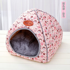 Dog Bed Mat Kennel Soft Dog Puppy Cats Winter Warm Bed Sleeping House for Dogs Nest Sofa Pet Kennel House Mat Chihuahua Bed - Petgo Wholesale
