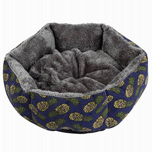 Hot Sale Printed Canvas Pet House For Small Dog Fashion Hexagon Dog Mat Soft Cotton Pet Dog Canine Deep Sleeping Bed - Petgo Wholesale
