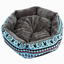 Load image into Gallery viewer, Hot Sale Printed Canvas Pet House For Small Dog Fashion Hexagon Dog Mat Soft Cotton Pet Dog Canine Deep Sleeping Bed - Petgo Wholesale
