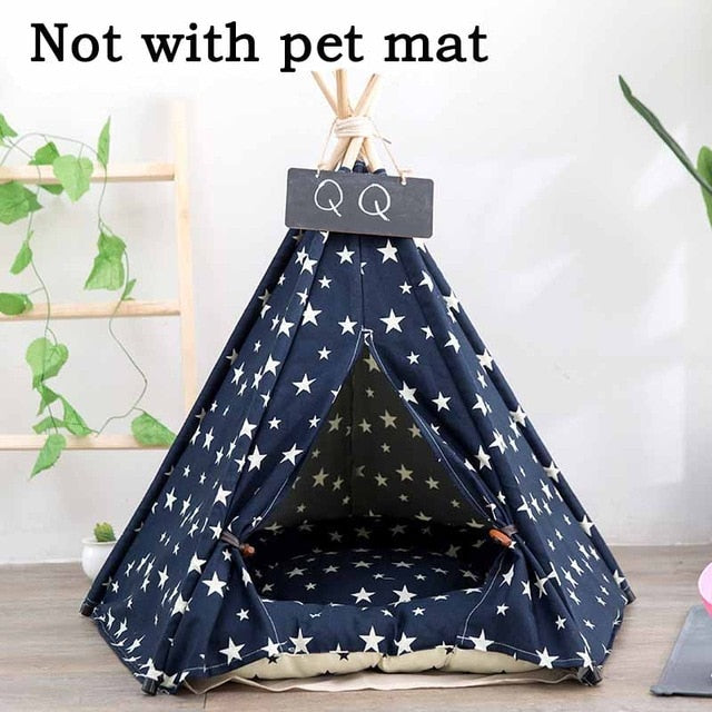 JORMEL Pet Tent Dog Bed Cat Toy House Portable Washable Pet Teepee Stripe Pattern  Fashion 2019 Not Included Mat - Petgo Wholesale