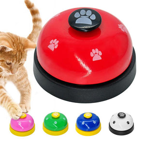 New Pet Call Bell Toy for Dog Feeding Ringer Pet IQ Training Squeak Interactive Belling Toys Cat Kitten Puppy Food Feed Reminder