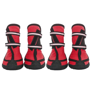 4 Pc/ Set Pet Waterproof Rain Shoes For Medium Large Dogs Multi Colors Optional Dog Rain Boots - Petgo Wholesale