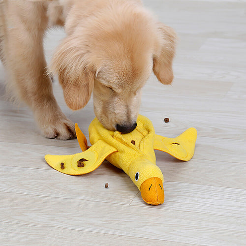 Training Snuffle Dog Toys IQ Treat Food Dispensing Duck Pet Toy dog toys interactive squeaking dog toys bite resistant navidad