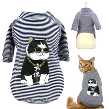 Load image into Gallery viewer, Fashion Cat Clothes Pet Dog Clothes For Small Dogs Cats Soft Cotton Summer Kitten Puppy Clothing Vest Stripe Dog T-shirt Shirts - Petgo Wholesale