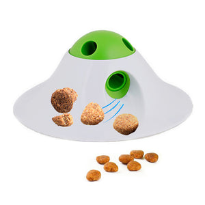 Pet Dog Leaking Food Toy PBA Free UFO Design Interactive Dog Toys Dog Food Dispensing Toys Fun Puzzle Ball Treat Exercise IQ