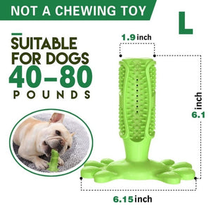 Pet Dog Toothbrush Chew Toy Doggy Brush Stick Soft Rubber Teeth Cleaning Dot Massage Toothpaste for Small dogs Pets Toothbrushes - Petgo Wholesale