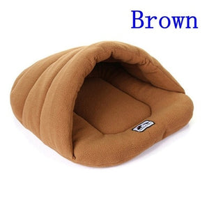 6 Colors Soft Polar Fleece Dog Beds Winter Warm Pet Heated Mat Small Dog Puppy Kennel House for Cats Sleeping Bag Nest Cave Bed - Petgo Wholesale