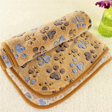 Load image into Gallery viewer, 40x60cm Cute Dog Bed Mats Soft Flannel Fleece Paw Foot Print Warm Pet Blanket Sleeping Beds Cover Mat For Small Medium Dogs Cats - Petgo Wholesale