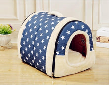 Load image into Gallery viewer, NEW  Folding doghouse doggie bed dog and cat pet house can remove and wash pet beds for fall and winter - Petgo Wholesale