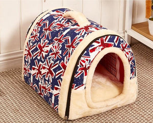 NEW  Folding doghouse doggie bed dog and cat pet house can remove and wash pet beds for fall and winter - Petgo Wholesale