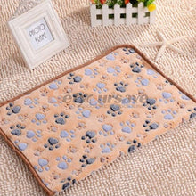 Load image into Gallery viewer, Cute Pet Small Warm Blanket Paw Print Dog Cat Hamsters Puppy Fleece Soft Beds Mat Cushion Pad - Petgo Wholesale