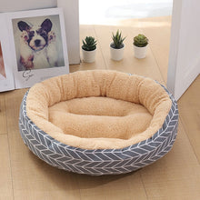 Load image into Gallery viewer, Soft Pet Dog Bed Washable Round Cat Cot Nest Non-slip Pet House Dog Cushion Short Plush Mats Lounger Sofas Products for Dogs - Petgo Wholesale