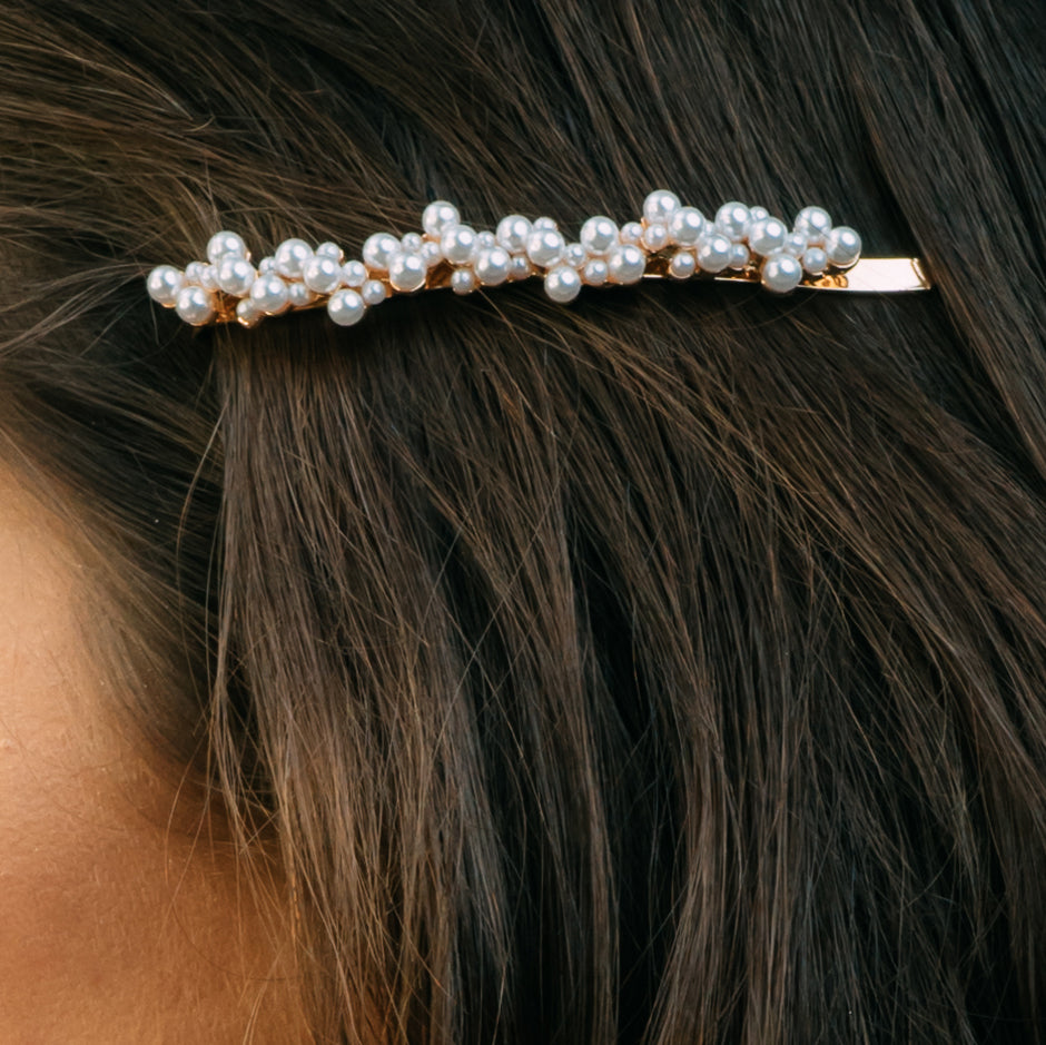 Clustered Pearl Hair Pin