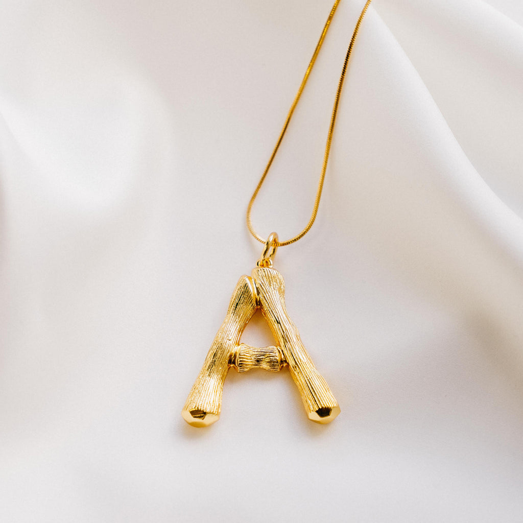 Vintage Oversized Alphabet Necklace