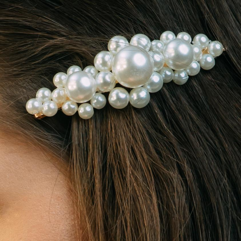 Large Flower Pearl Hair Pin