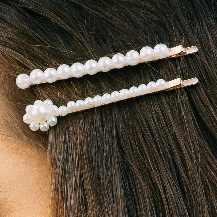 Simple Pearl Hair Pin - Set of 2