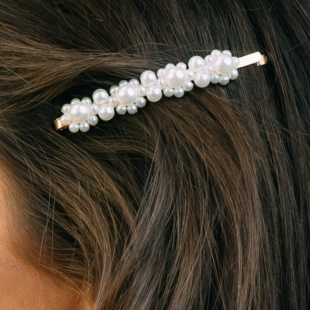 Small Flower Pearl Hair Pin