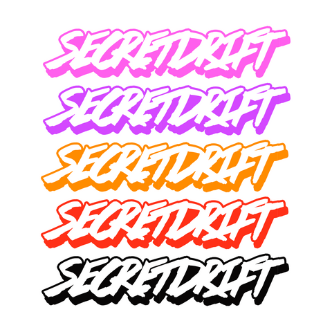 Secretdrift Logo Die Cut Sticker
