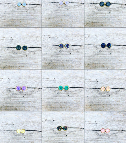 Druzy Stud Earrings-16 colors