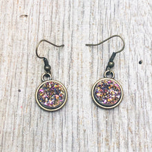 Load image into Gallery viewer, Dangle Druzy Earrings (Multiple colors)