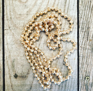 Solid Butterscotch Beaded Necklace