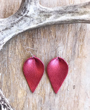Load image into Gallery viewer, Pinched Leather Earrings (9 available colors)