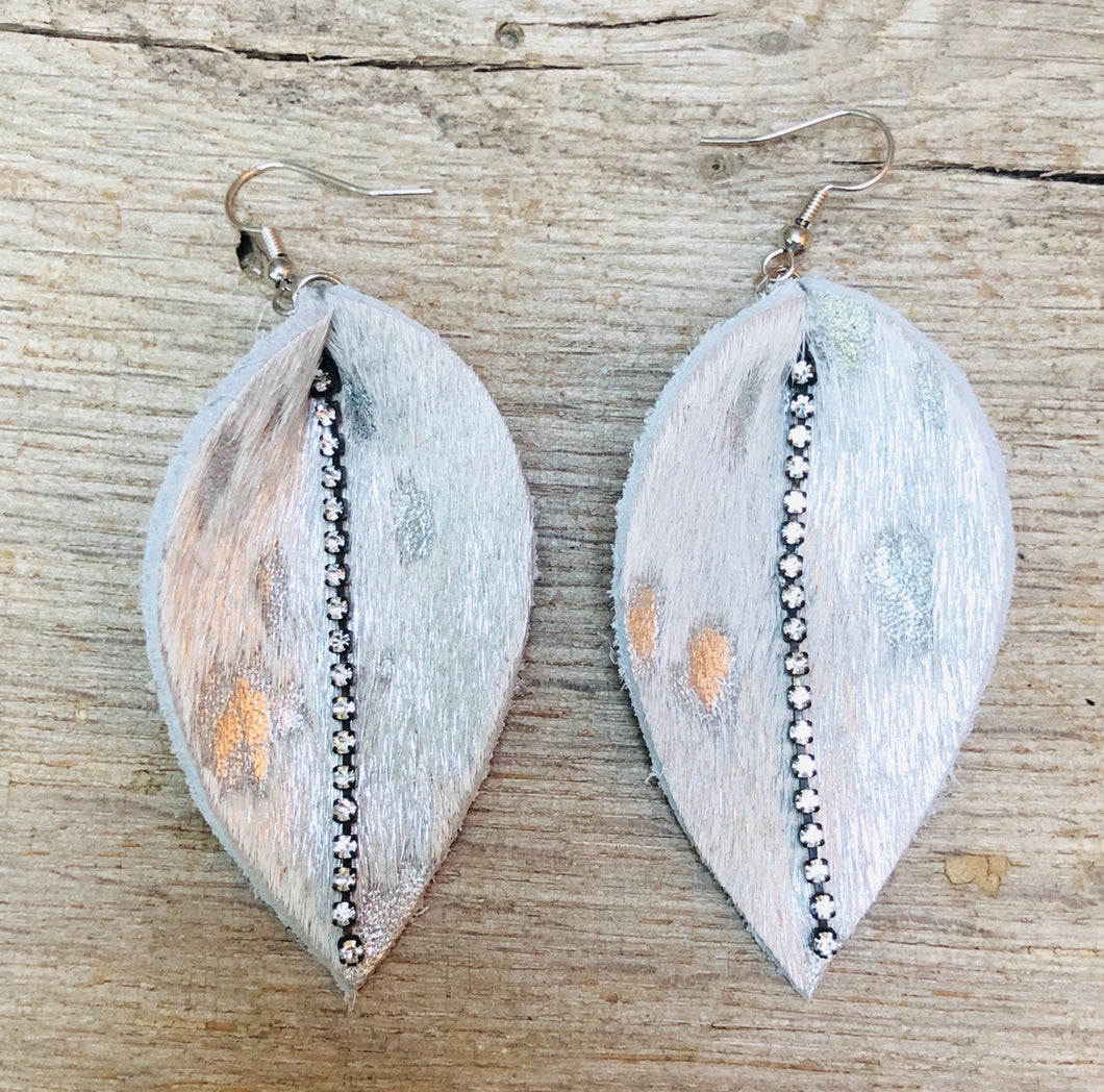Layla Cowhide Earrings