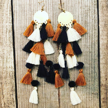 Load image into Gallery viewer, Leopard Colored Tassel Earrings