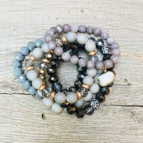 Brittany Beaded Bracelet Stack