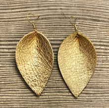 Load image into Gallery viewer, Gold, Champagne, Bronze Leather Earrings