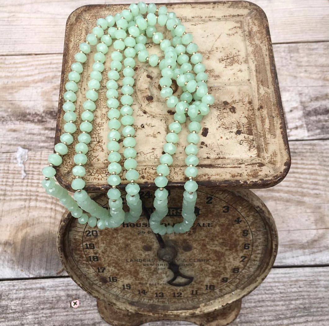 Mint Green Beaded Necklace