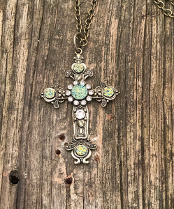 Druzy Cross Necklace