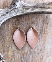 Load image into Gallery viewer, Glitter Pinched Leather Earrings (6 available colors)