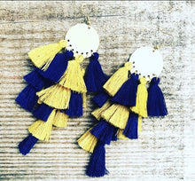 Load image into Gallery viewer, Dangle Tassel Earrings (More colors available)