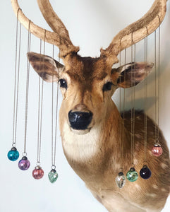 Mini Mercury Glass Ornament Necklace