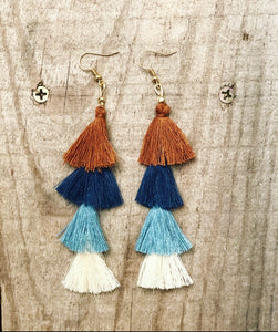 Stem Tassel Earrings