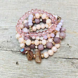 Stephanie Beaded Bracelet Stack