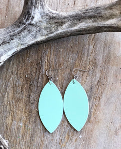 Oval Leather Earrings (2 available colors)