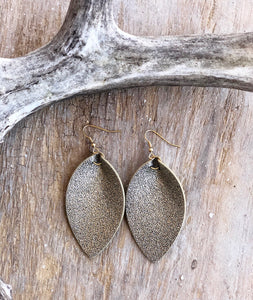Glitter Pinched Leather Earrings (6 available colors)