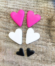 Load image into Gallery viewer, Polymer Clay Heart Earrings