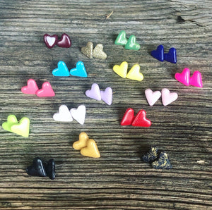 Polymer Clay Heart Earrings