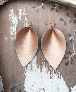 Large Metallic Leather Earrings