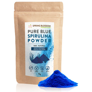 75g Pure Blue Spirulina Powder (Phycocyanin) - Spring Blossom Superfoods