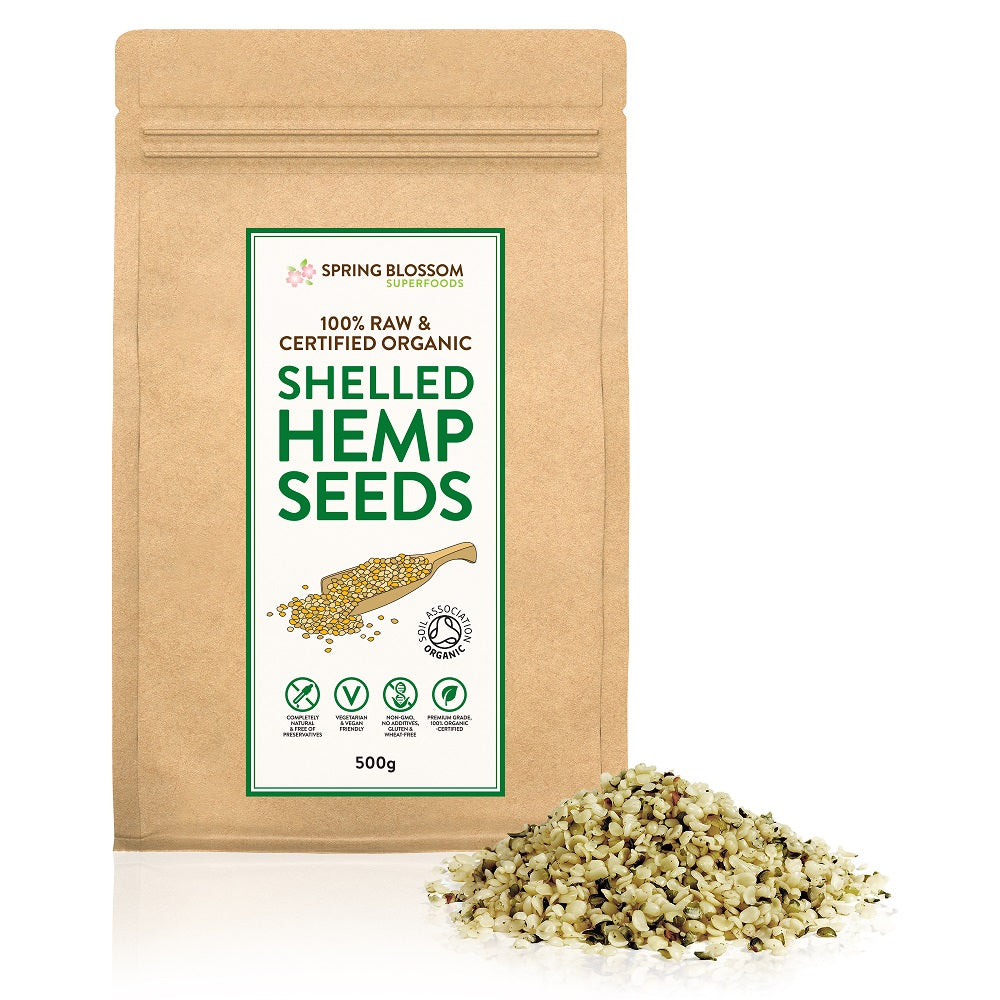 500g Organic Hemp Seeds (Shelled) - Spring Blossom Superfoods