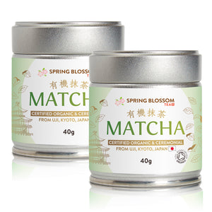 Load image into Gallery viewer, 40g Organic Matcha Tea - Japanese Ceremonial Grade - Tin - Spring Blossom Superfoods