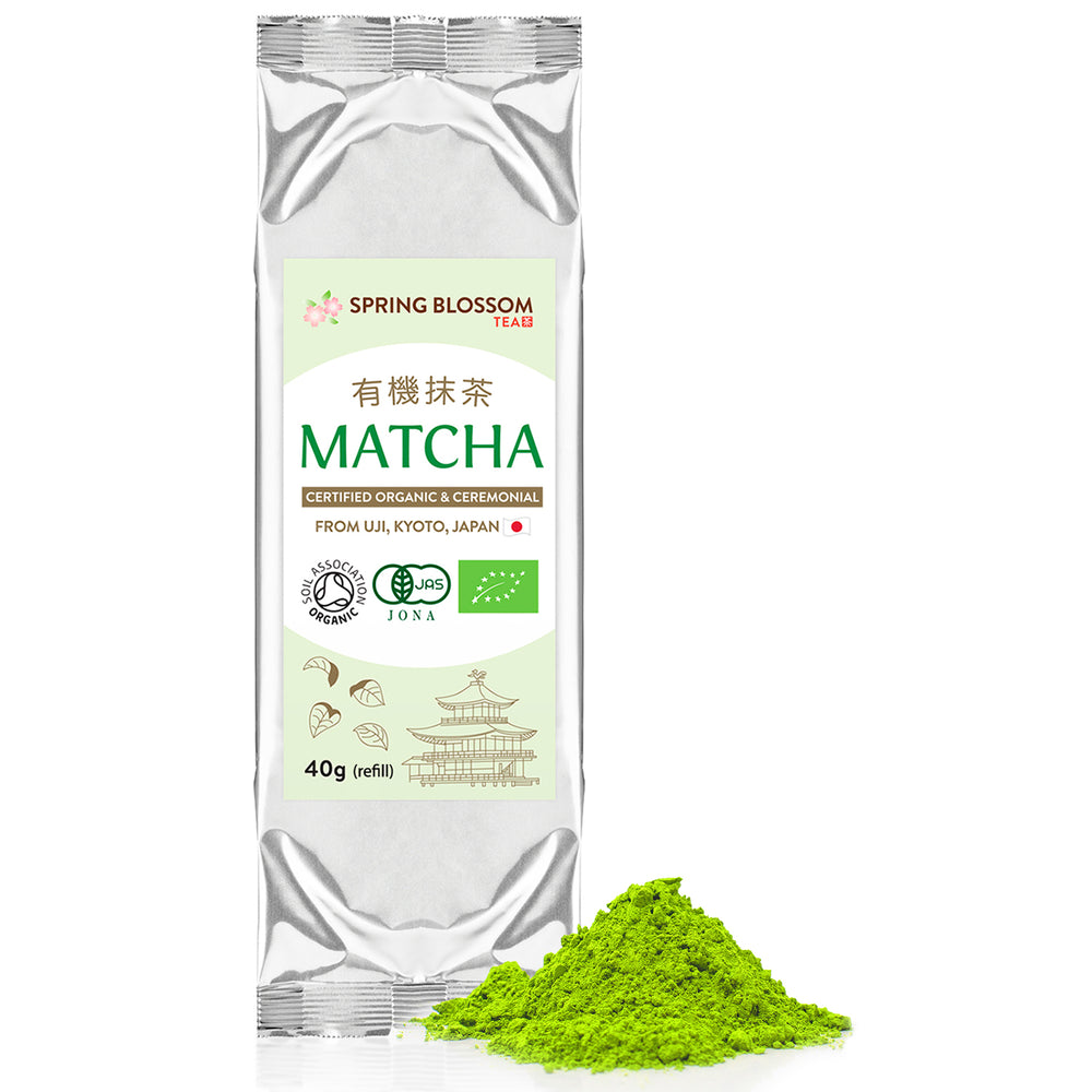 Load image into Gallery viewer, 40g Organic Matcha Tea - Japanese Ceremonial Grade - Refill - Spring Blossom Superfoods