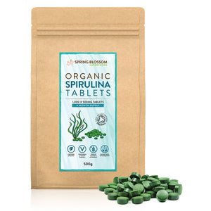 500g Organic Spirulina Tablets - 1,000 x 500mg (6 months) - Spring Blossom Superfoods