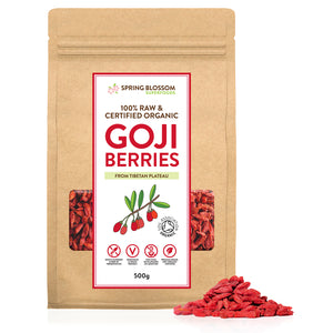 Load image into Gallery viewer, 500g Tibetan Organic Goji Berries - Tibetan Plateau Sun-Dried - Spring Blossom Superfoods