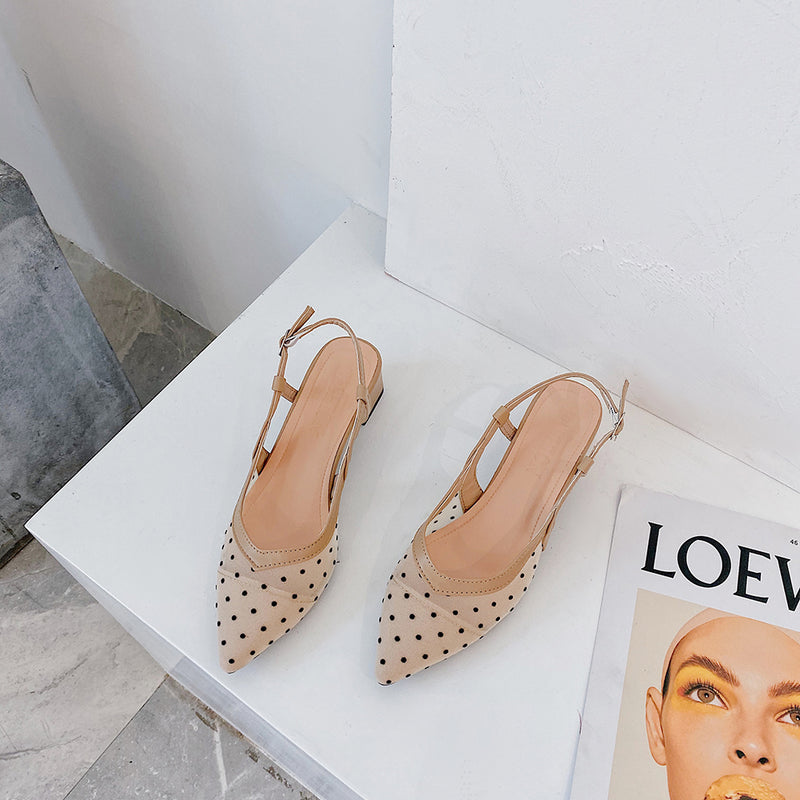 pointed to dot mules